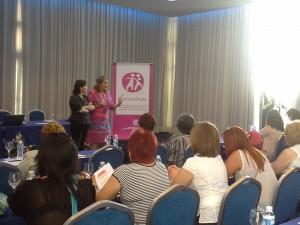 Momento de la inauguración de las jornadas a cargo de Doña Silvia Ordiñaga, Directora General de Consumo