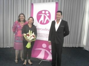 Soledad Morales, Silvia Ordiñaga y Pablo Rico